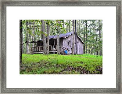 The Huntin Lodge Framed Print