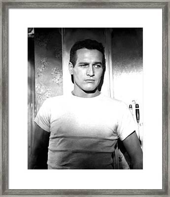 The Hustler, Paul Newman, 1961 Framed Print