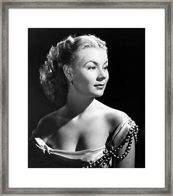 The I Dont Care Girl, Mitzi Gaynor Framed Print by Everett