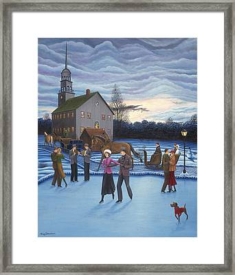 The Ice Skaters Framed Print by Tracy Dennison