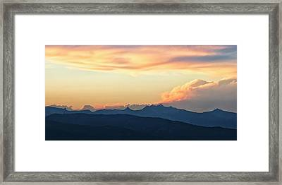 Framed Print featuring the photograph The Idaho Selkirks by Albert Seger