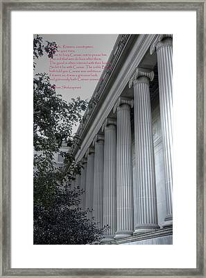 The Ides Of March Framed Print by David Bearden