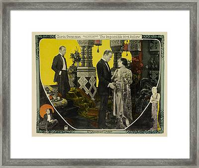 The Impossible Mrs. Bellew, From Left Framed Print by Everett