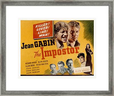 The Impostor, Jean Gabin, 1944 Framed Print