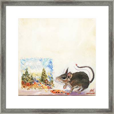 The Impressionist Mouse Framed Print by Stella Violano