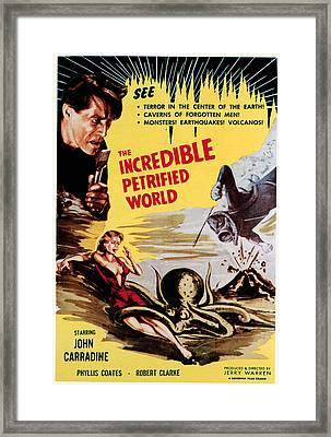 The Incredible Petrified World, Poster Framed Print