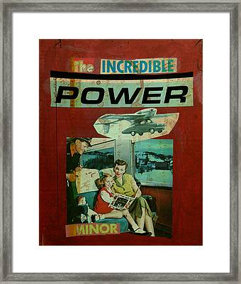 The Incredible Power Minor Framed Print by Adam Kissel