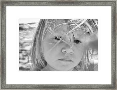 Framed Print featuring the photograph The Innocent by Kelly Reber