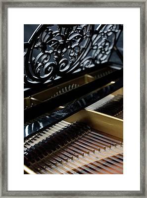 The Inside Of A Piano Framed Print by Studio Blond
