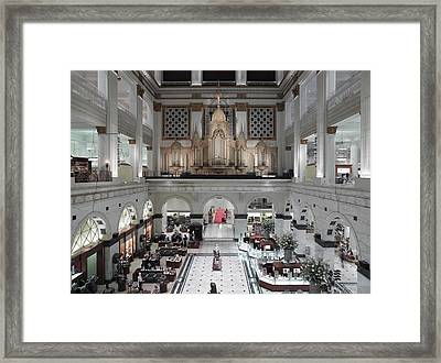 The Interior Court Of Wanamakers Framed Print by Everett