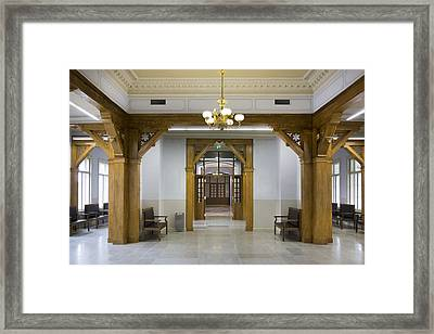 The Interior Of The Waiting Room Hall Framed Print