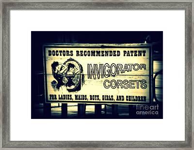 The Invigorator Framed Print by Susanne Van Hulst