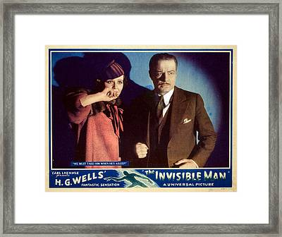 The Invisible Man, Gloria Stuart Framed Print by Everett