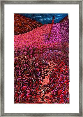 The Invisible Prince Cuts Into The Yorin Claz Forces  Framed Print by Al Goldfarb