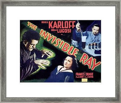 The Invisible Ray, Boris Karloff Framed Print by Everett
