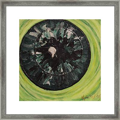 The Iris Framed Print by Kris Tal Knutson