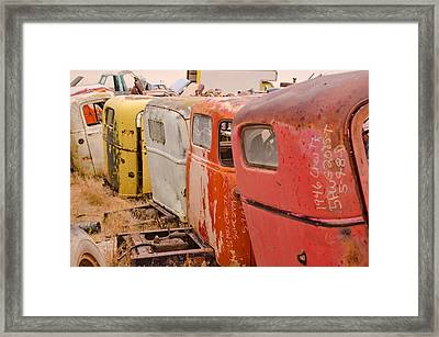 The Iron Boneyard 9 Framed Print by Matthew Angelo