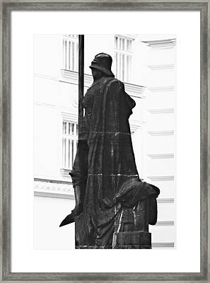 The Iron Knight - Darth Vader Watches Over Prague Cz Framed Print