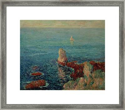 The Island Of Groix Framed Print by Henry Moret