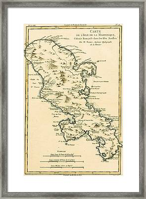 The Island Of Martinique Framed Print by Guillaume Raynal