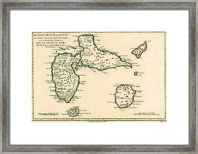 The Islands Of Guadeloupe Framed Print by Guillaume Raynal