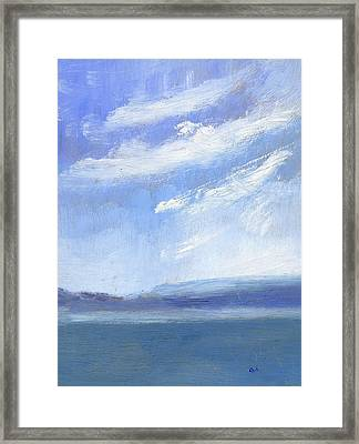 The Isle Of Wight From Portsmouth Part Three Framed Print by Alan Daysh