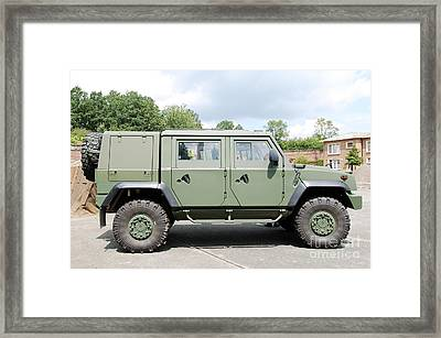 The Iveco Light Mulirole Vehicle Framed Print by Luc De Jaeger