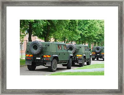 The Iveco Lmv Of The Belgian Army Framed Print by Luc De Jaeger