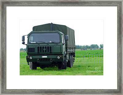 The Iveco M250 8 Ton Truck Framed Print by Luc De Jaeger