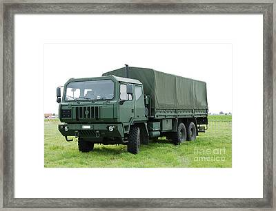 The Iveco M250 Used By The Belgian Army Framed Print by Luc De Jaeger
