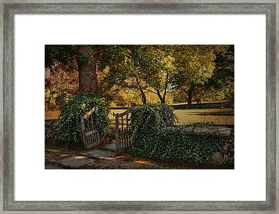 The Ivy Gate Framed Print by Robin-Lee Vieira