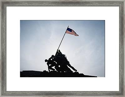 The Iwo Jima Memorial Framed Print by Stephen St. John