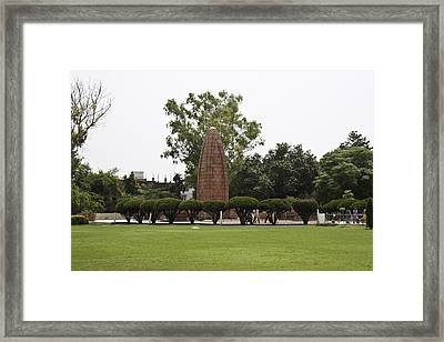 Framed Print featuring the photograph The Jallianwala Bagh Memorial In Amritsar by Ashish Agarwal