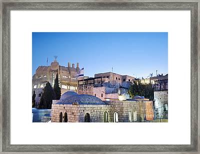 The Jewish Quarter In Jerusalem Framed Print