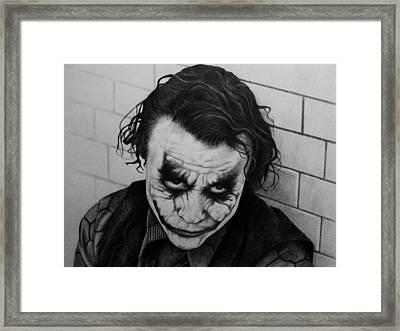 The Joker Framed Print by Carlos Velasquez Art