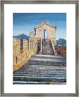 The Journey Framed Print by Lynette Cook
