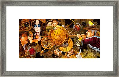 The Journey Of The Three Pomegranate Seeds Framed Print
