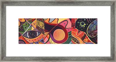 The Joy Of Design Triptych Framed Print by Helena Tiainen