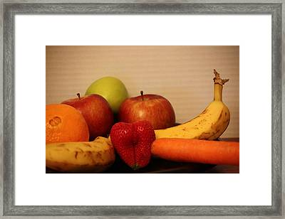 The Joy Of Fruit At Supper Framed Print by Andrea Nicosia
