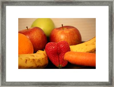 The Joy Of Fruit In The Morning Framed Print by Andrea Nicosia