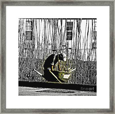 The Joy Of Working Framed Print