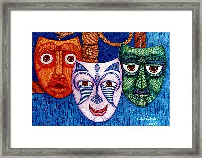The Joy  The Anger And The Fear  Framed Print