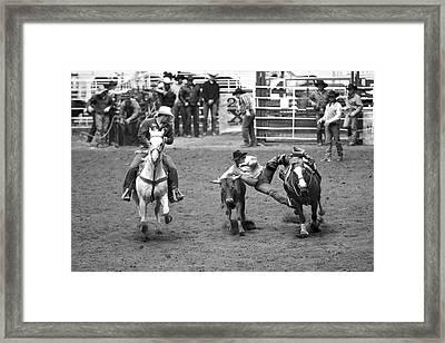 The Jumping Cowboy Framed Print