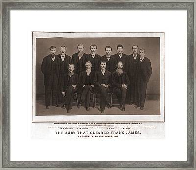 The Jury That Acquitted Frank James Framed Print by Everett