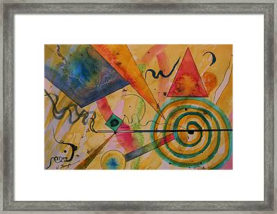 The Kandinsky Swirl Framed Print by Warren Thompson