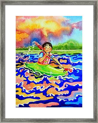 The Kayak Racer 12 Framed Print by Hanne Lore Koehler