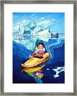 The Kayak Racer 13 Framed Print by Hanne Lore Koehler