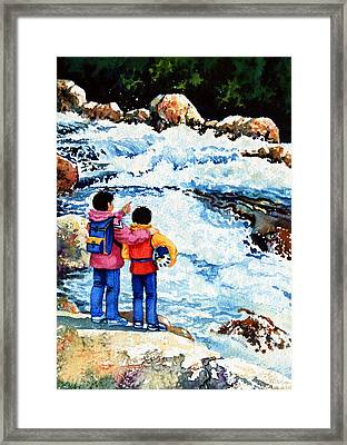 The Kayak Racer 14 Framed Print by Hanne Lore Koehler