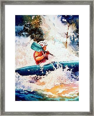 The Kayak Racer 18 Framed Print by Hanne Lore Koehler
