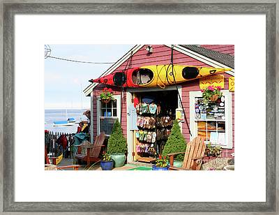 The Kayak Store Framed Print